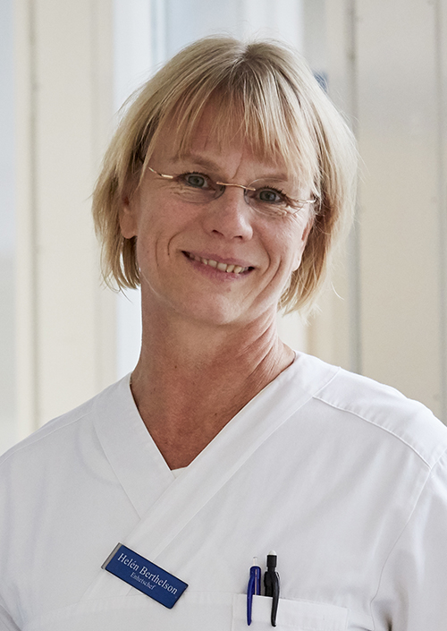 Helen Berthelson, enhetschef på Centralsjukhuset i Kristianstad och ordförande i Riksföreningen för anestesi- och intensivvård. Foto: Kimme Persson