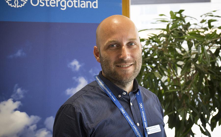 Rickard Lundin, specialistsjuksköterska i ambulanssjukvård och centrumchef för Katastrofmedicinskt centrum i Region Östergötland.