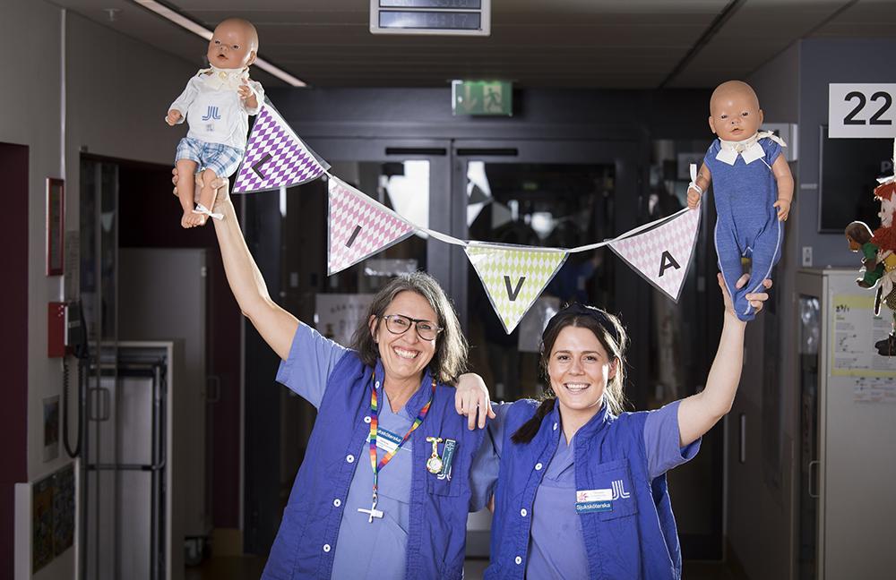 Helene Malmqvist, specialistsjuksköterska inom barn och ungdom och Therese Steger, sjuksköterska på LIVA. Foto: Johan Marklund