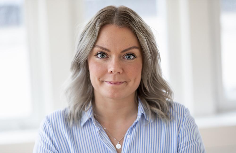 Nadja Ståhl, ordförande i Vårdförbundet Student. Foto: Ulf Huett