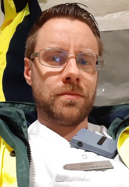 Daniel Gustafsson, specialistsjuksköterska och verksamhetsutvecklare på akutmottagningen på Universitetssjukhuset i Örebro.