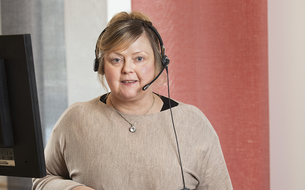 Renita Hamsund, sjuksköterska på 1177 Västmanland. Foto: Per Groth