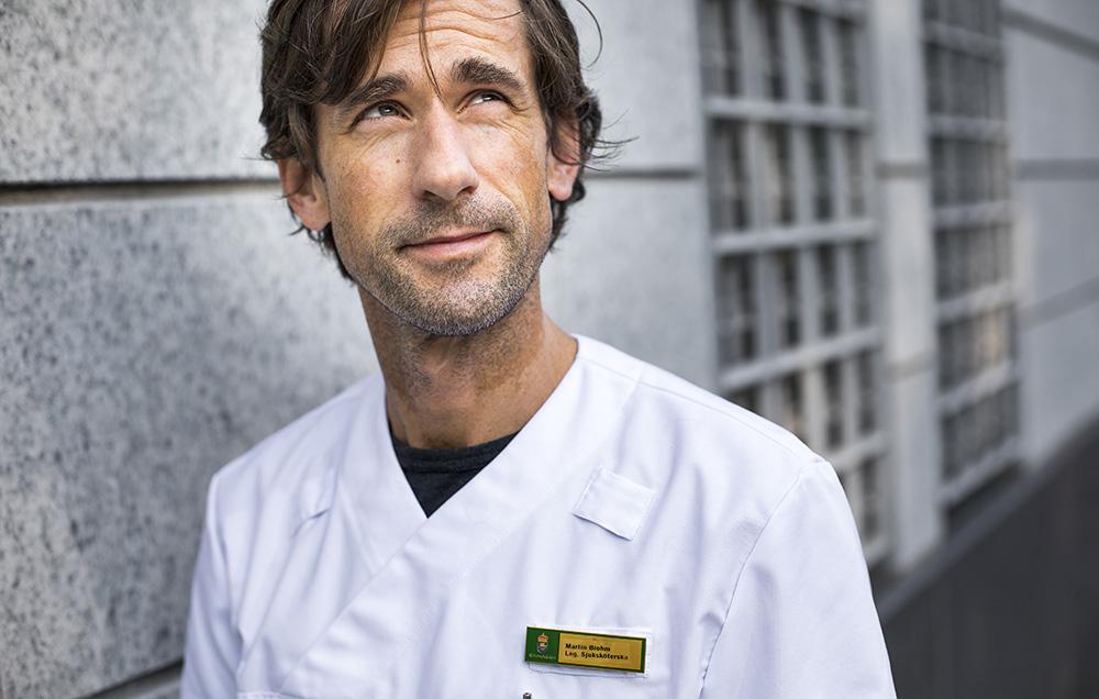 Martin Blohm, sjuksköterska på Kronobergshäktet i Stockholm. Foto: Johan Marklund