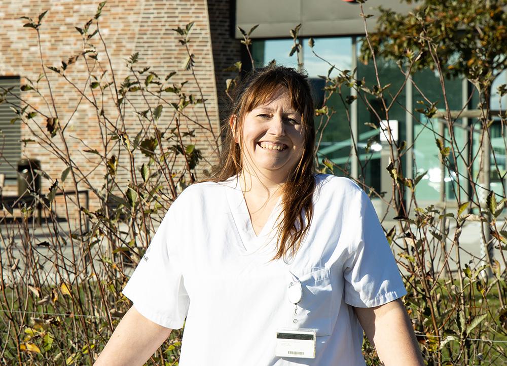 Anna Lööf, sjuksköterska på Rättspsykiatriskt Centrum i Trelleborg. Foto: Peter Löfqvist