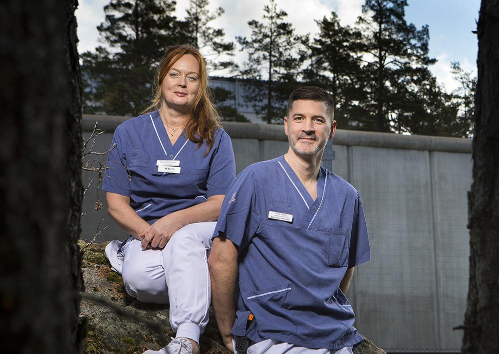 Maria Pettersson och Daniel Olsson, den rättspsykiatriska vården i Stockholms läns sjukvårdsområde. Foto: Johan Marklund