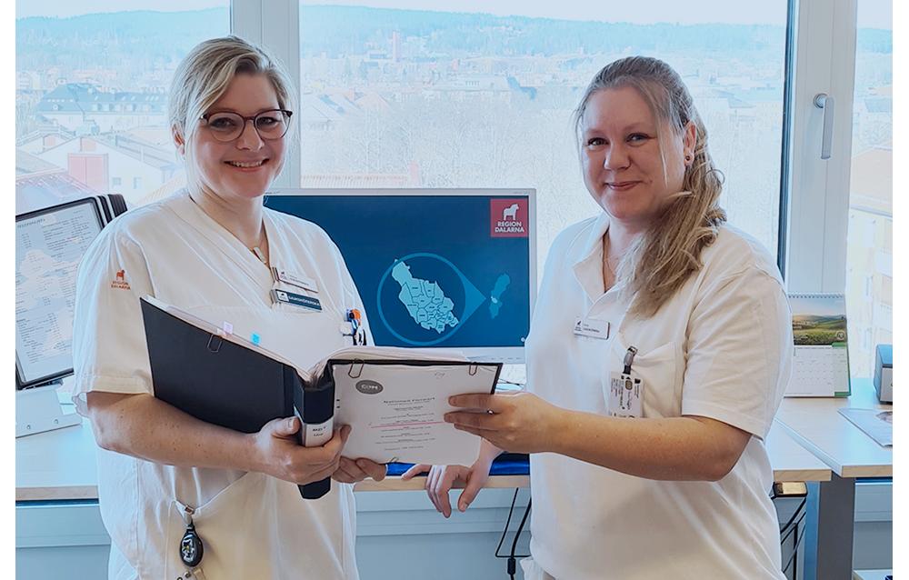 Viktoria Engestang och Anna Persson Leppänen, kontaktsjuksköterskor på kirurgmottagningen.
