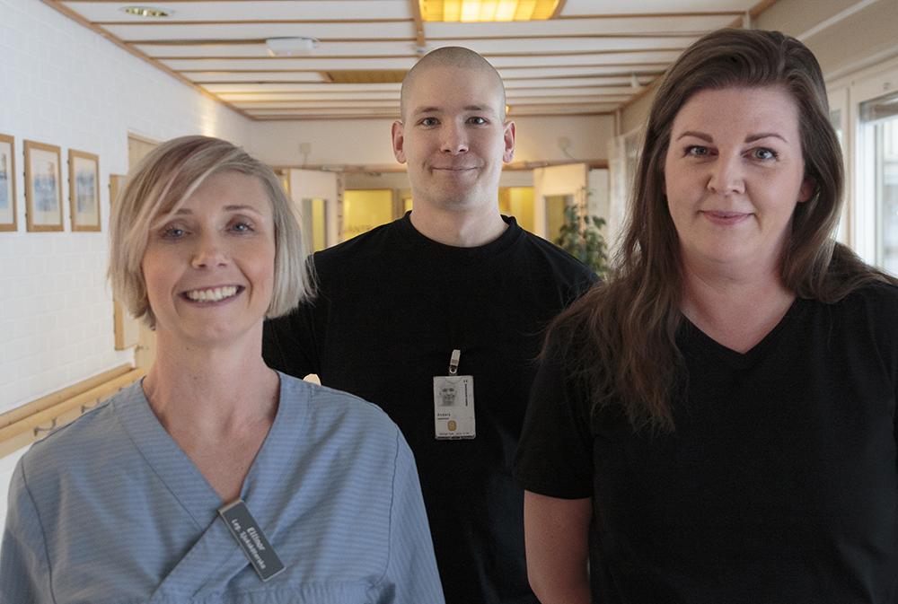 Ellinor Byström, Anders Danielsson och Maria Anundsson trivs bra i Örnsköldsviks kommun. Foto: Örnsköldsviks kommun